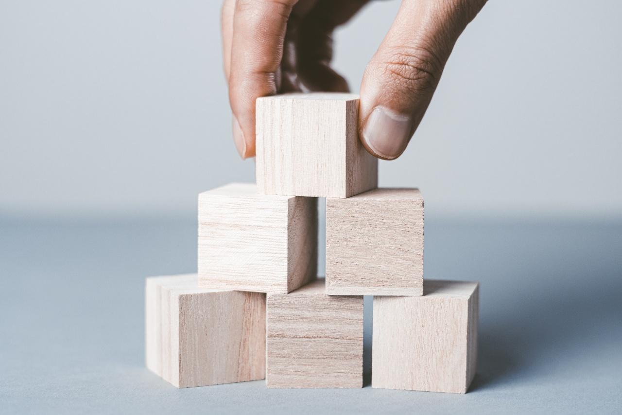 Building blocks symbolise hierarchy in Japanese business culture