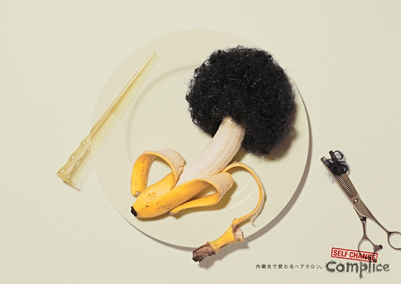 Example of how Complice Hair advertise in Japan with banana advertisement