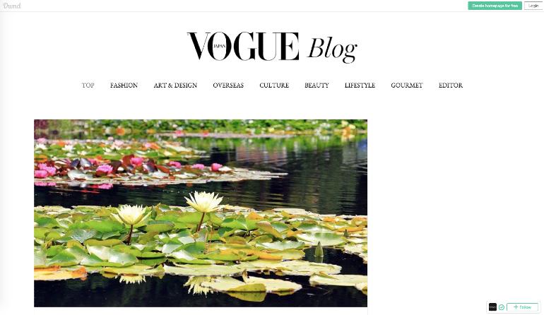 Example of vogue using Japanese content marketing effectively