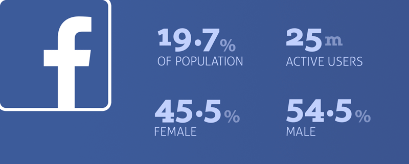 facebook in japan social media statistics population demographic percentage