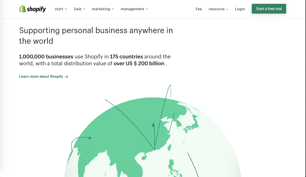 Global representation of Shopify's presence for those considering Shopify in Japan