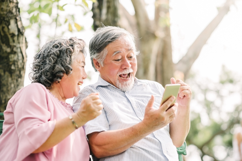 An older audience enjoy Facebook advertising in Japan