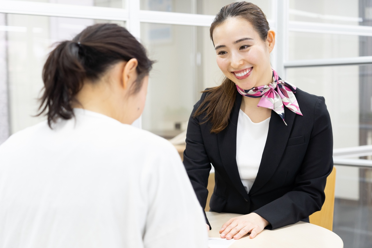 Woman offering dedicated customer service for company selling online in Japan
